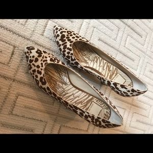 Dolce vita pony hair shoes in brown/cream